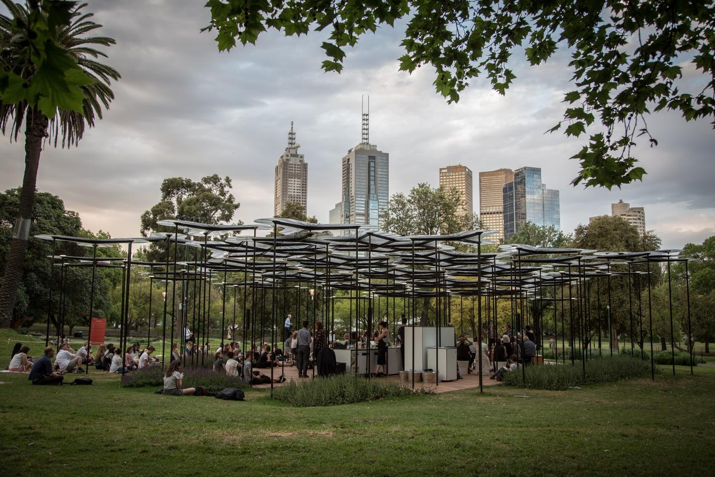 Melbourne's plentiful parklands have no shortage of shady trees under which to relax on a balmy summer evening, but a new addition to city's gardens offers a different way to wind down.