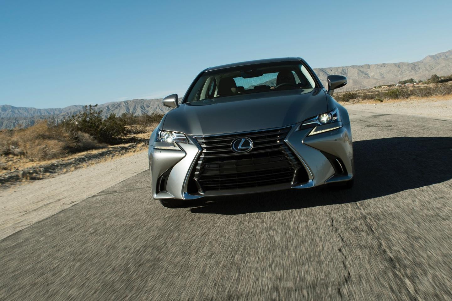 The 2016 Lexus GS features 10 airbags as standard for occupant protection and the Lexus Safety System +