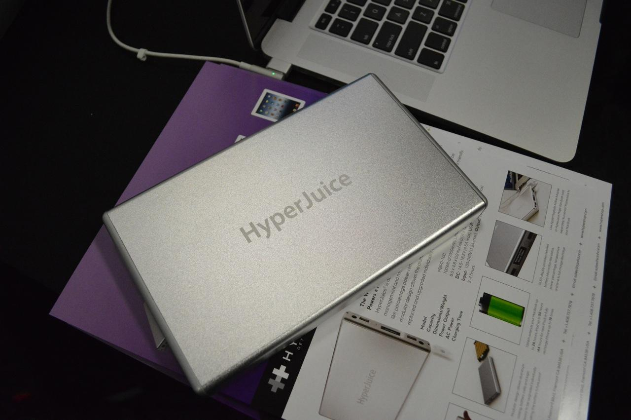 The HyperJuice2 has a brushed aluminum body