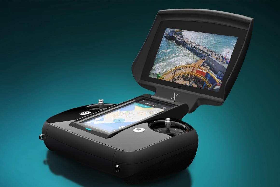 The dual screen controller at the heart of the Evolve experience