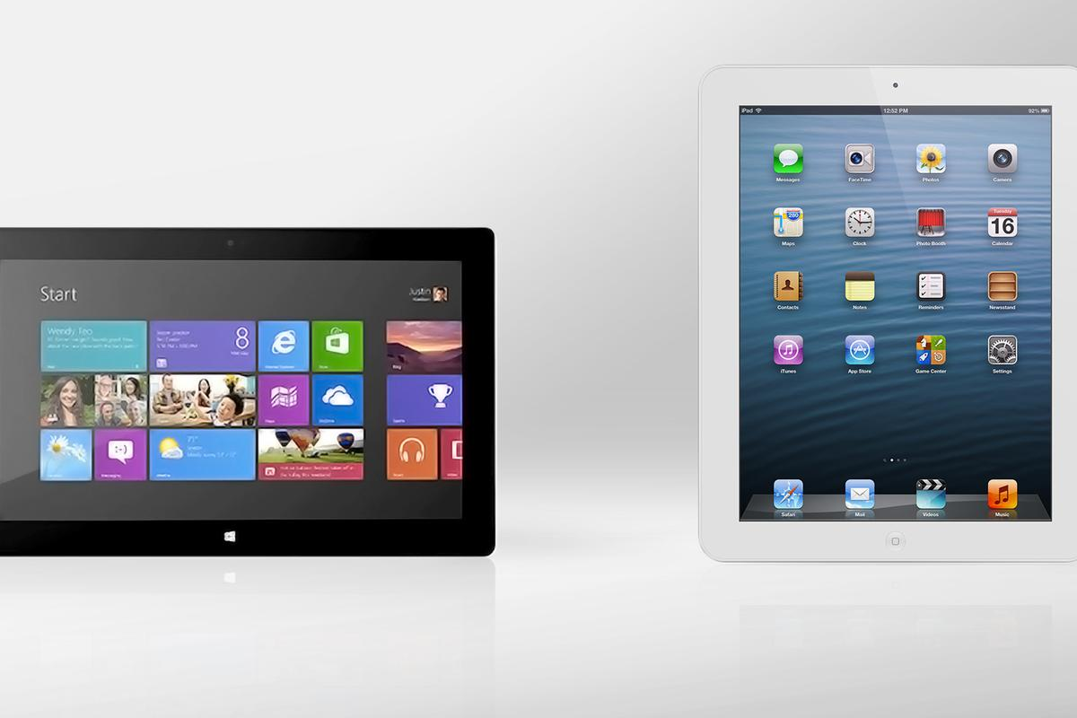We compare the specs - and other features - of the Microsoft Surface Pro and iPad 4