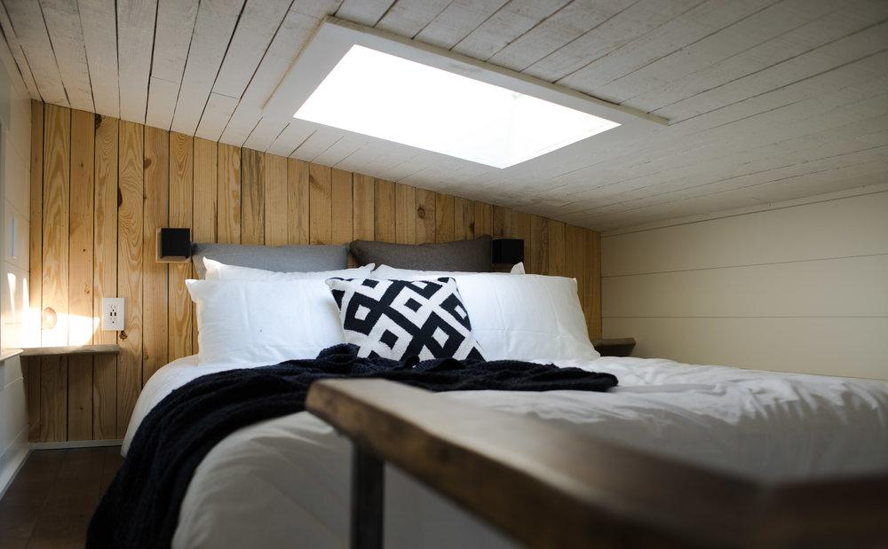 Bedroom loft in the Legacy tiny house