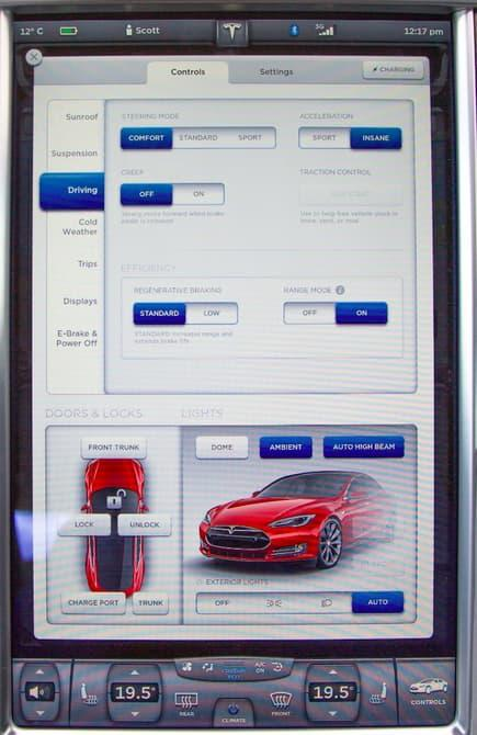 Tesla has pushed the infotainment game on with the 17-inch touchscreen in its Model S