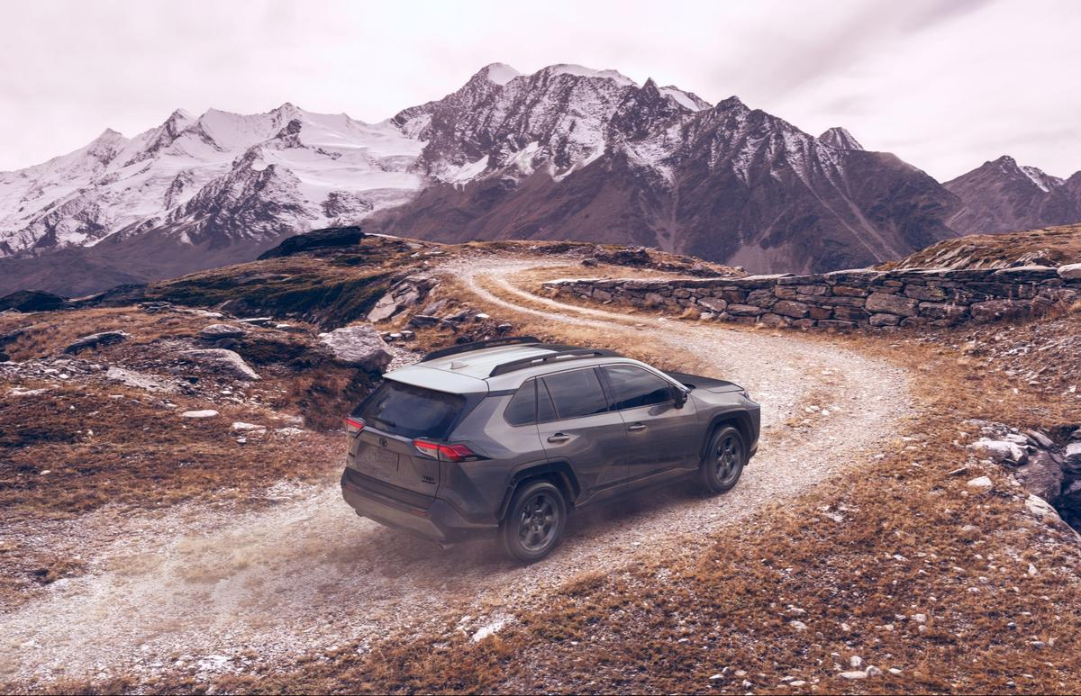 TRD badging and an exclusive two-tone Magnetic Gray Metallic w/ Ice Edge Roof are the most obvious of the RAV4 TRD Off-Road's options