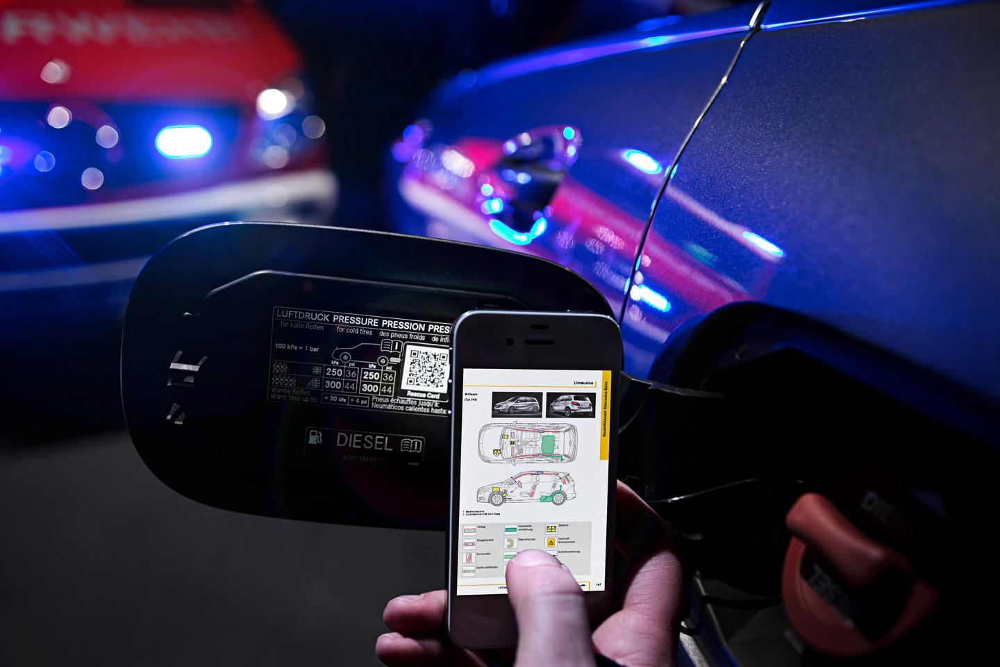 Mercedes-Benz plans to use QR codes to help rescue crews free people from car wrecks