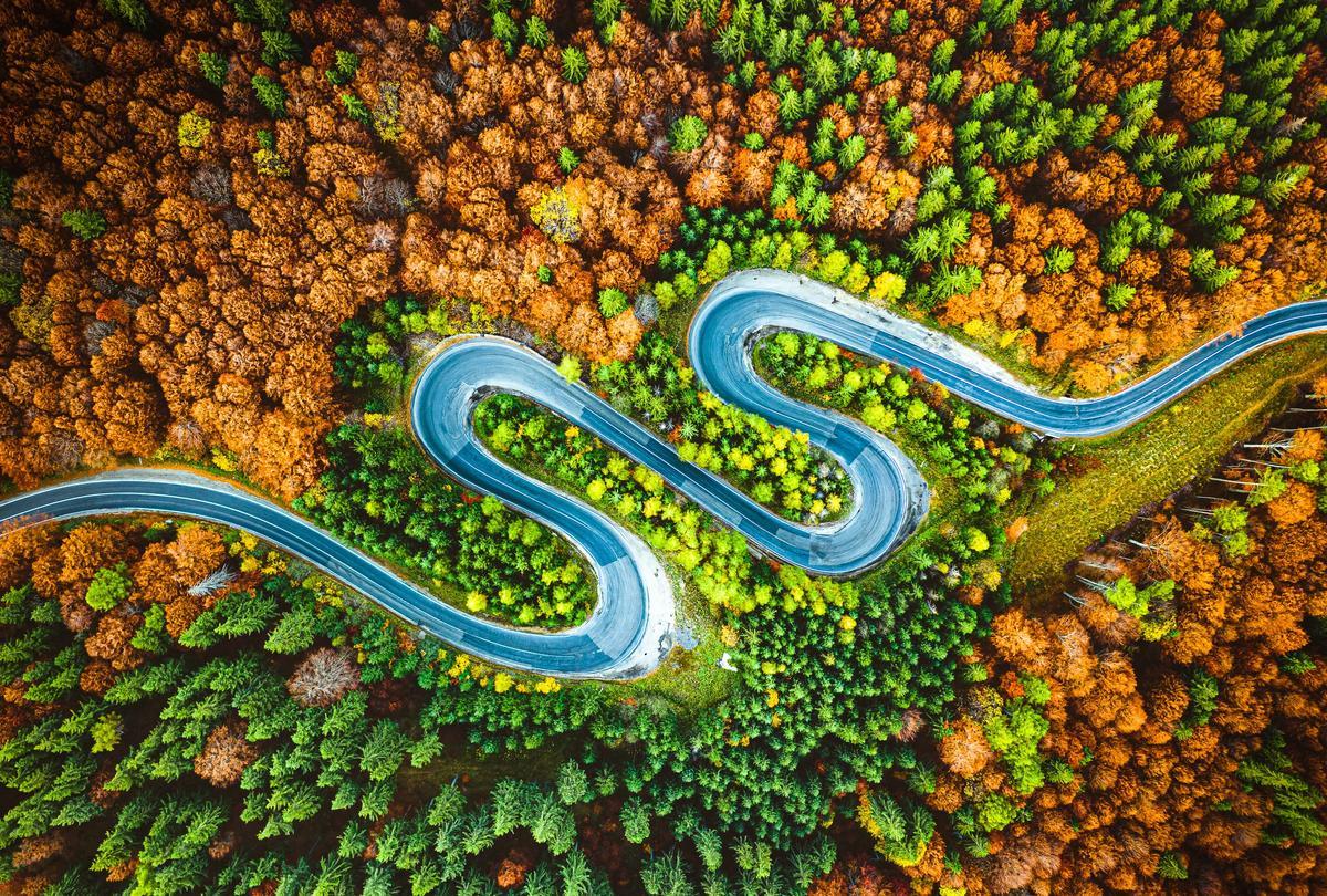 """Winner, Latvia. """"Autumn serpentine"""". The mountains of Romania"""