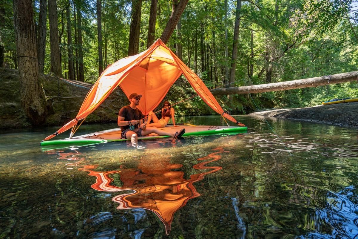 Unlike the typical Tentsile tent, the new Universe is also a raft
