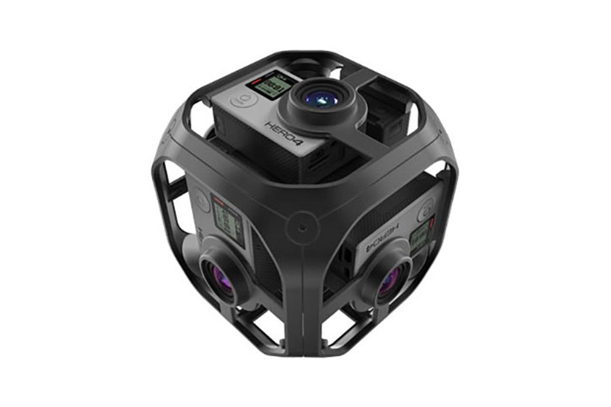 GoPro's Omni rig holds six Hero4 cameras for capturing 360-degree video