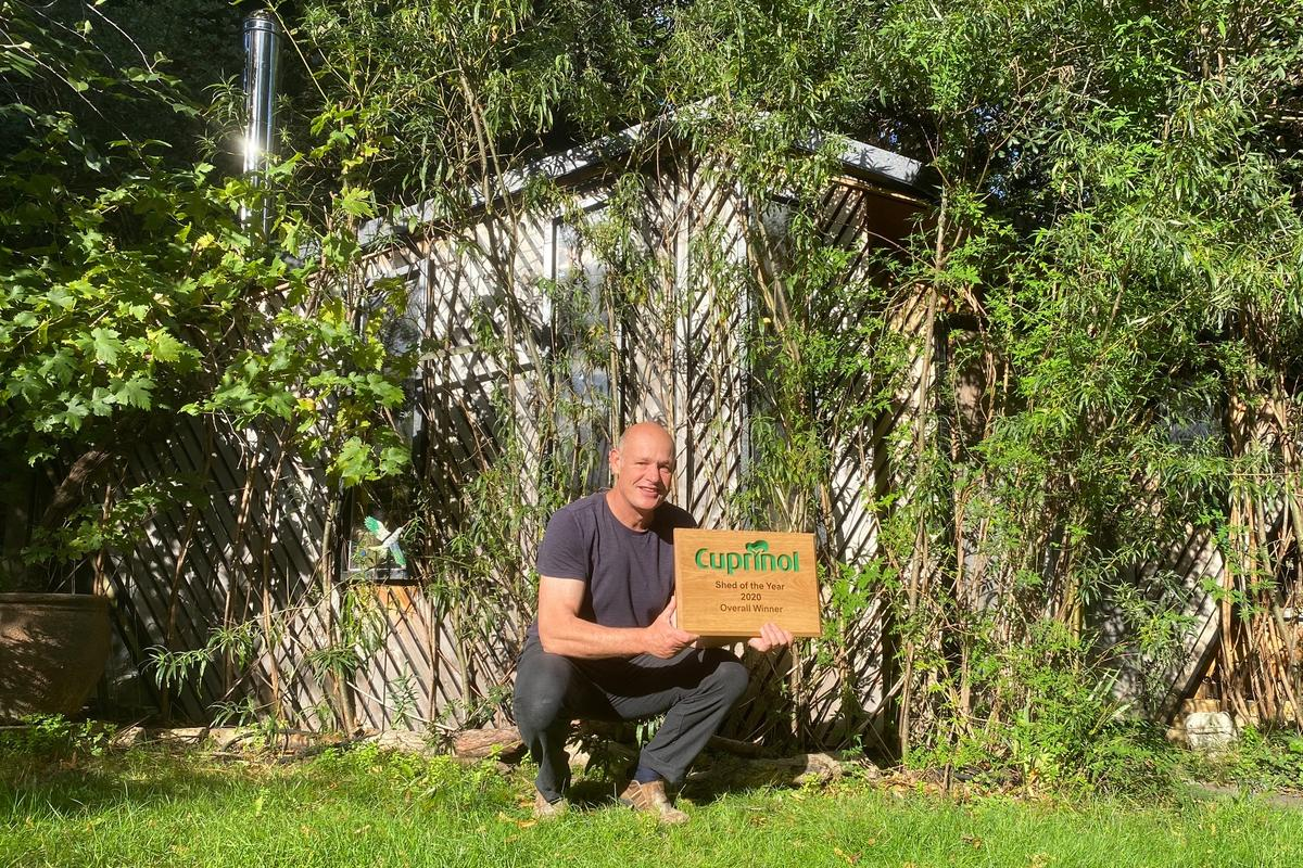 The Cuprinol Shed of the Year 2020 winner is Daniel Holloway, with his Bedouin Tree Shed