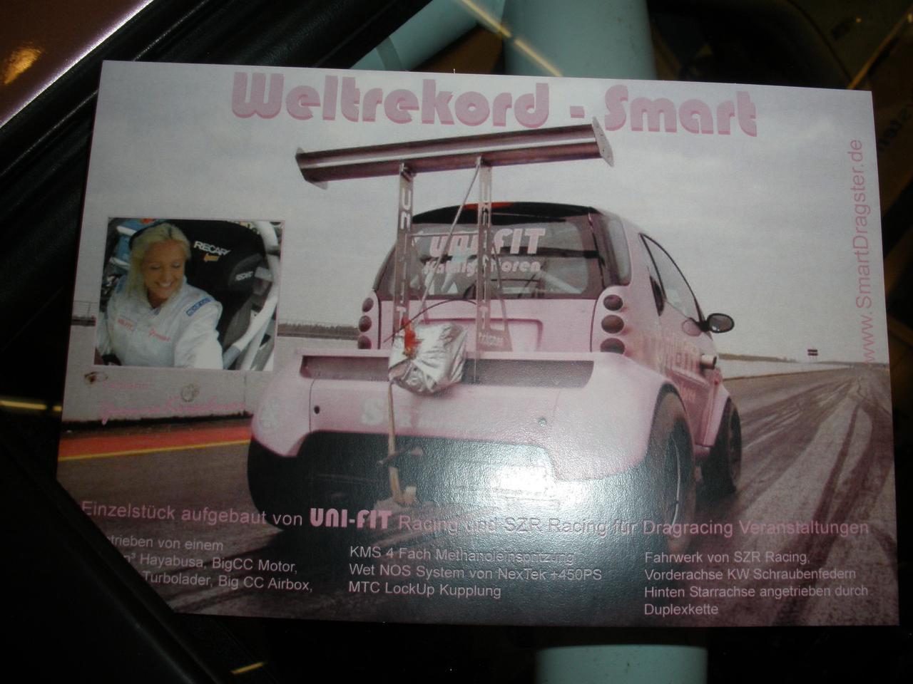 The world champion smartcar uses a Suzuki Hayabusa motor