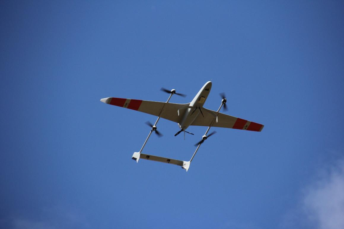 The Carbonix Volanti takes off like a multirotor and cruises like a fixed-wing aircraft