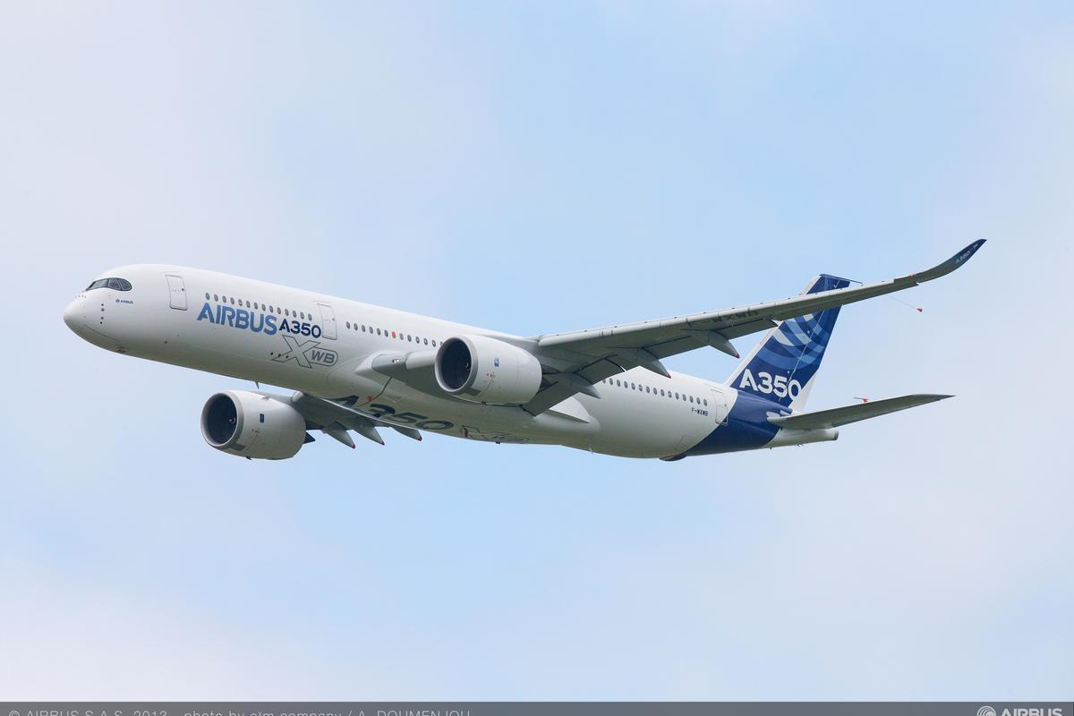 The Airbus A350 XWB made a visit to the 2013 Paris Air Show during its third test flight