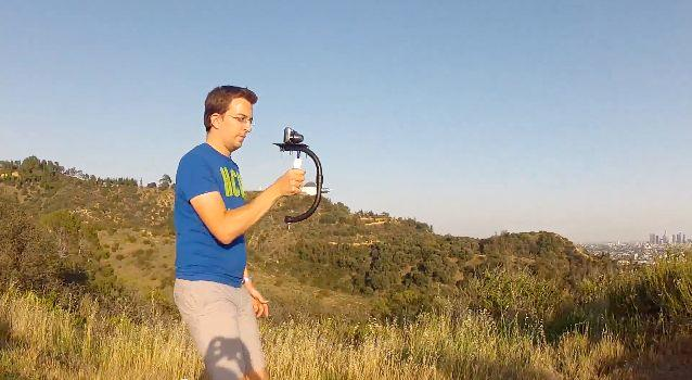 MoveeGo is a compact camera rig system, for users of small camcorders or smartphones