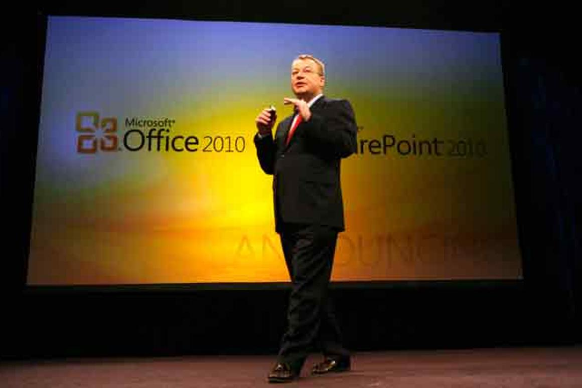 Microsoft's Stephen Elop introduces the business edition of Office 2010