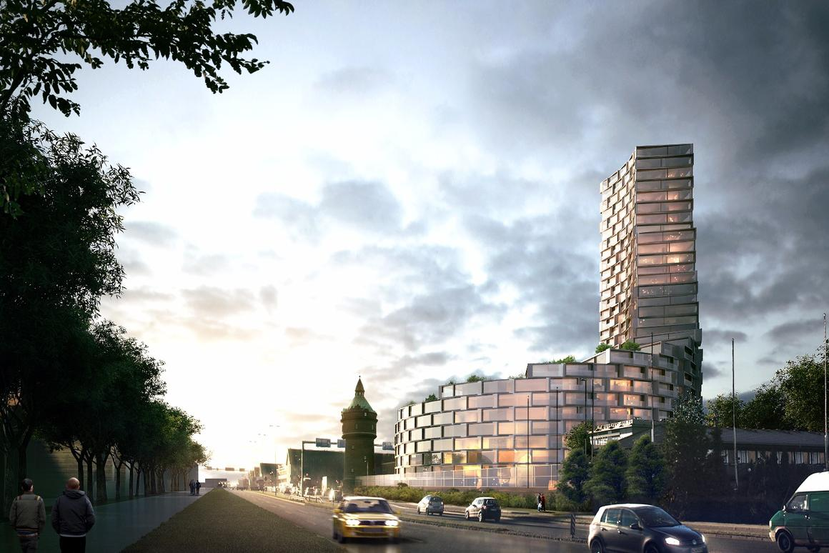 La Tour will stretch up 95 m (312 ft) and 31 stories to become the tallest residential building in Aarhus