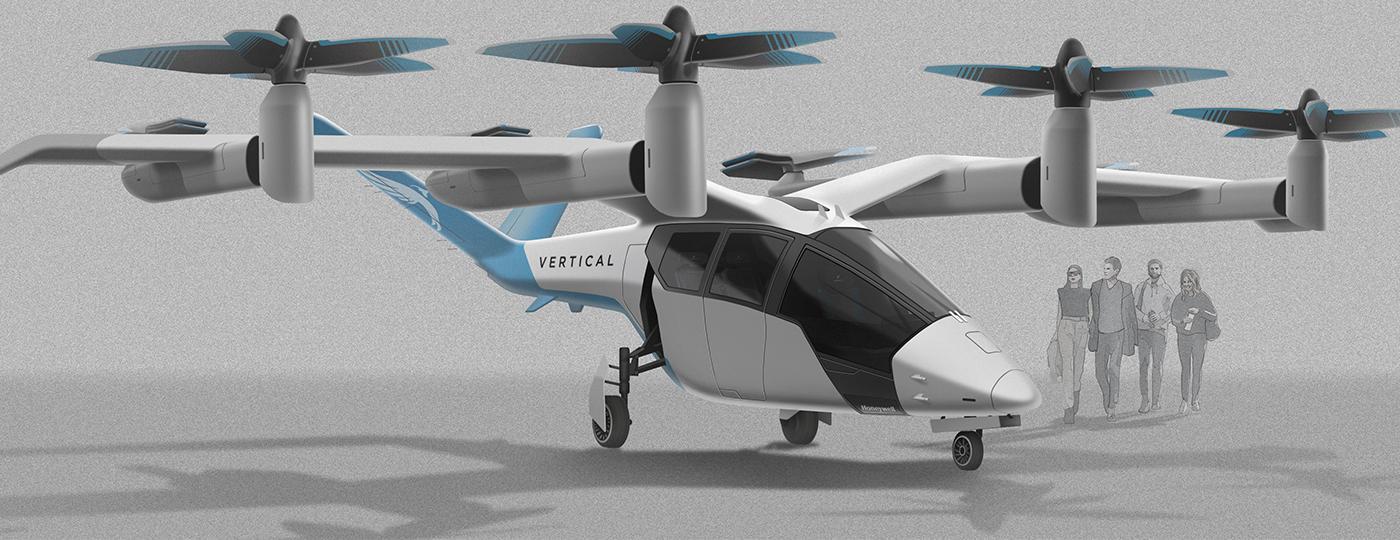On the VA-1X, the front rotors tilt upwards for VTOL