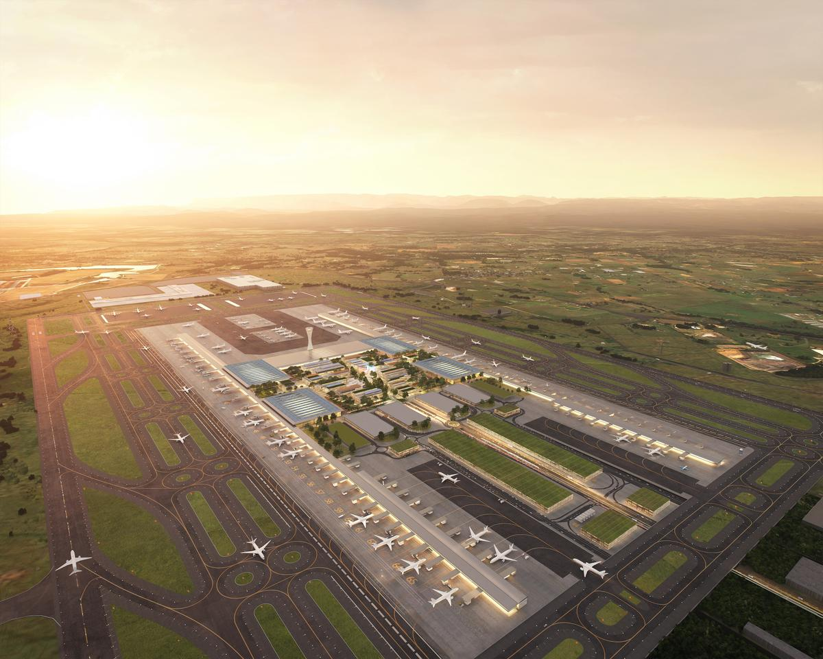 The Western Sydney International (Nancy-Bird Walton) Airport will include rainwater recycling and a focus on natural ventilation