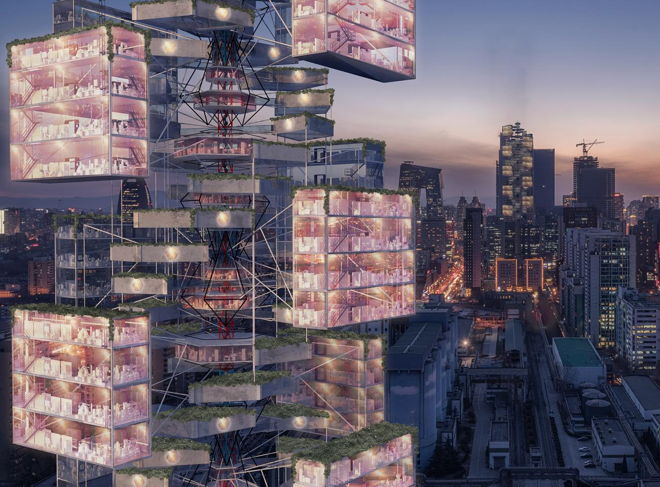 Taking out first place in the eVolo 2020 Skyscraper Competition was Epidemic Babel, designed by China's D Lee, Gavin Shen, Weiyuan Xu
