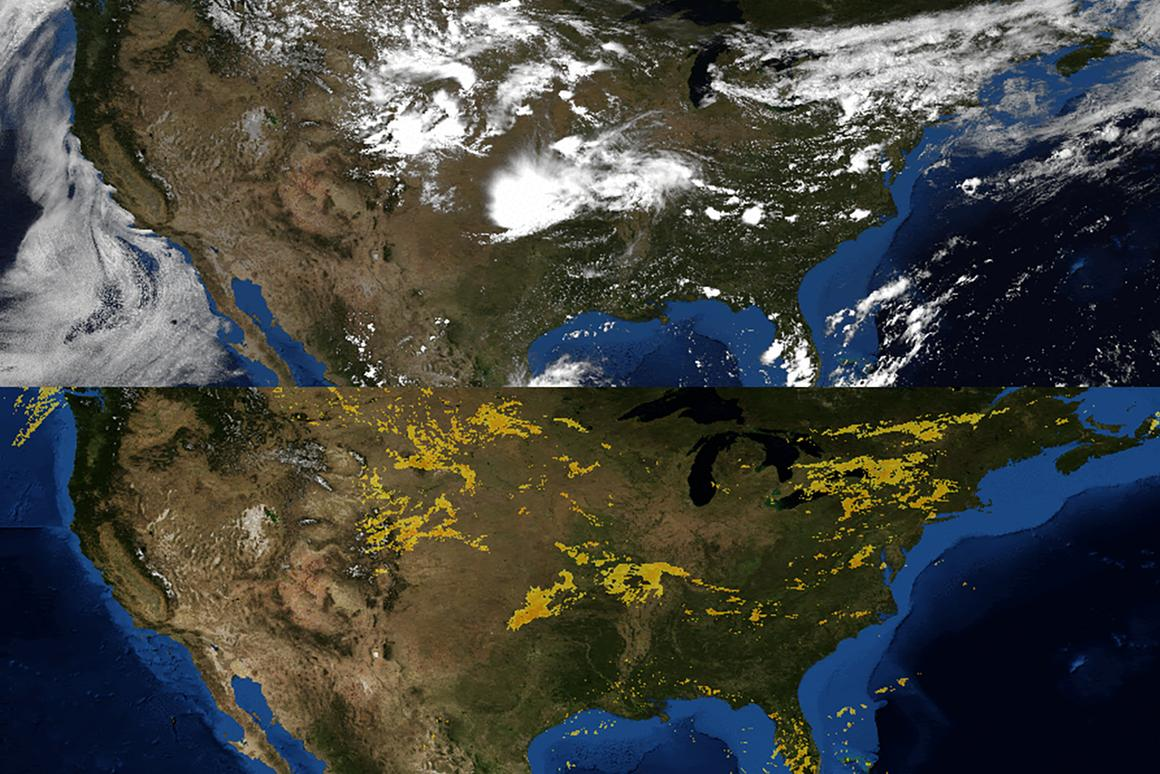 Cloud observations and radar images used to produce forecasts