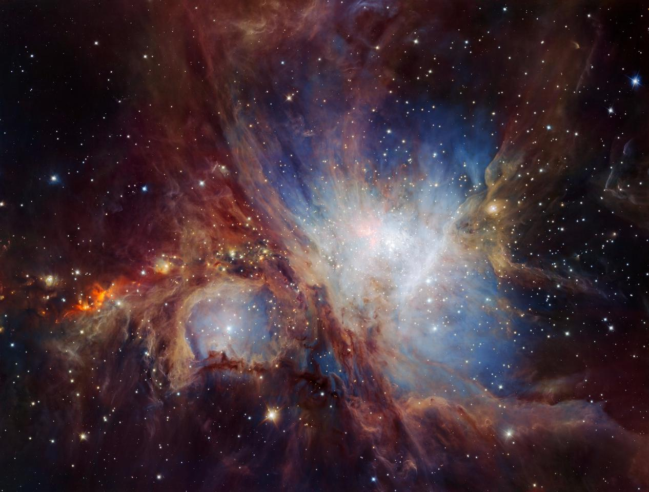 The new VLT image represents the deepest infrared view of the Orion Nebula taken so far