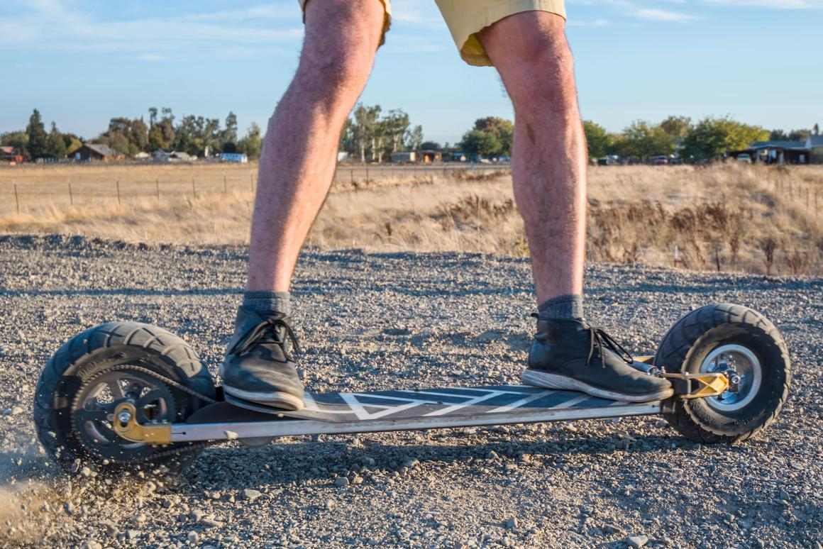 The Speedboard isn't limited to use on asphalt