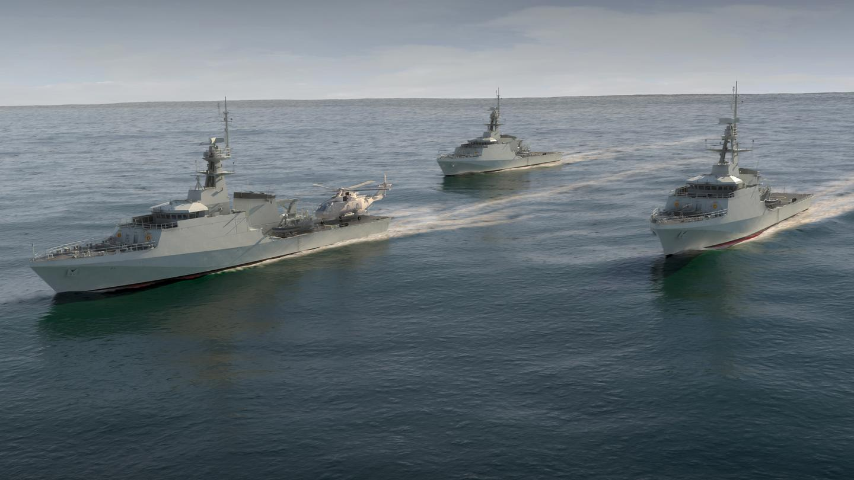 Artist's concept of the Royal Navy's new OPVs