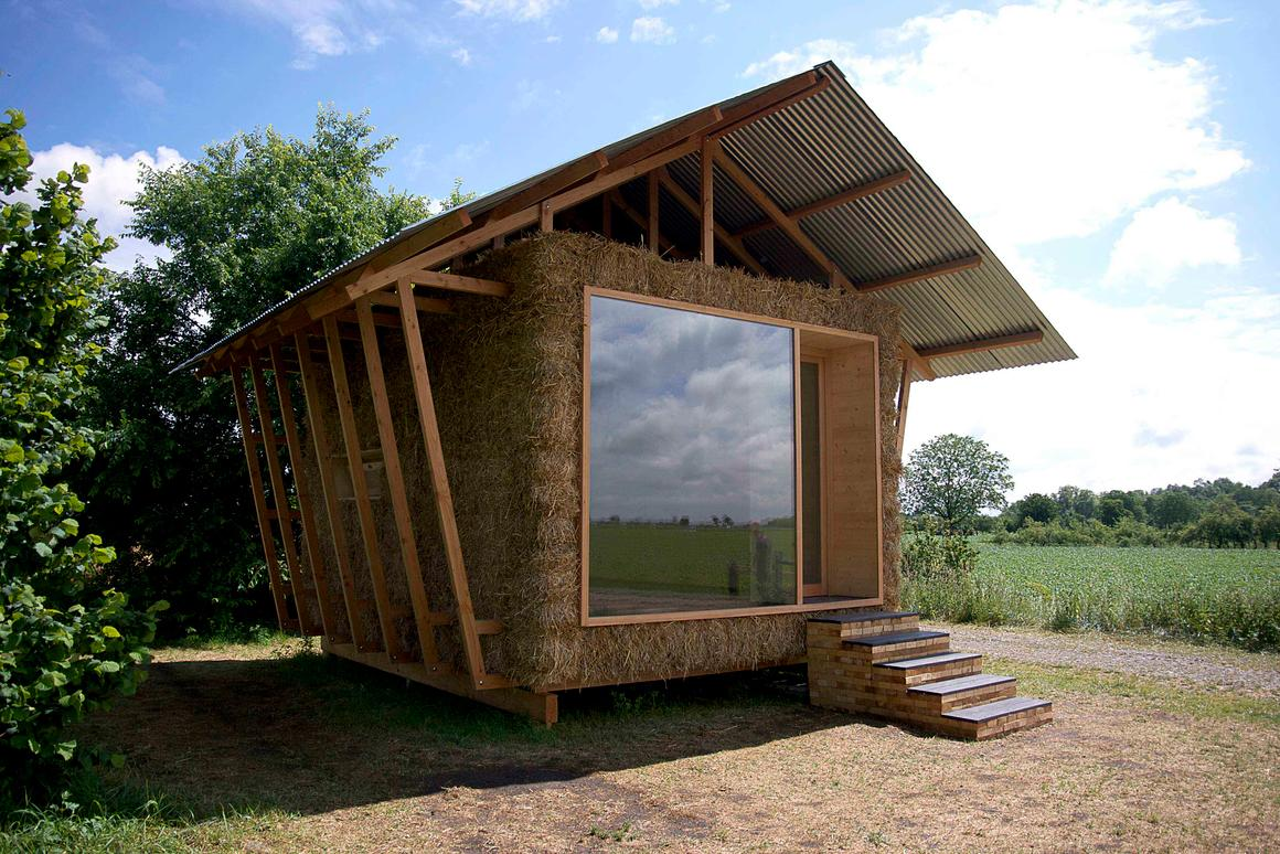 """Designed by a group of young French architects from Studio 1984, the """"Nest"""" is a compact home concept that is reminiscent of a traditional barn"""