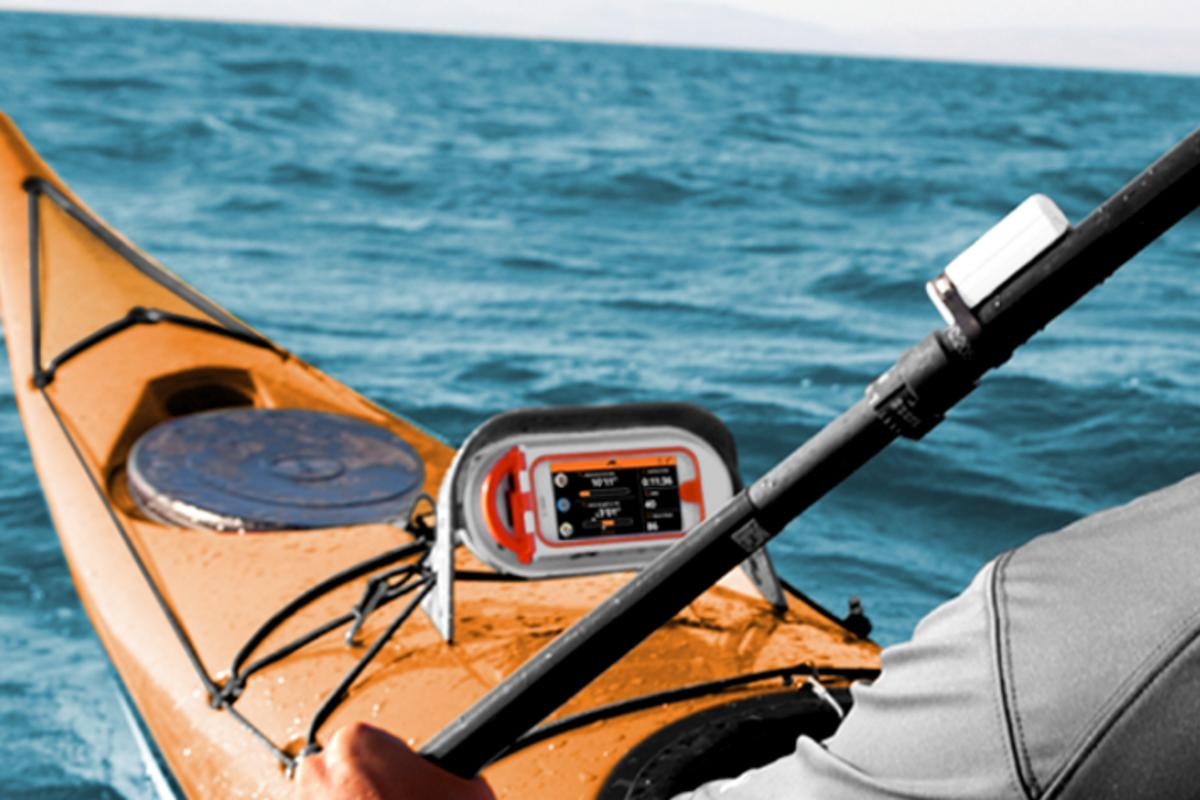 Motionize Paddle is an electronic kayaking coach