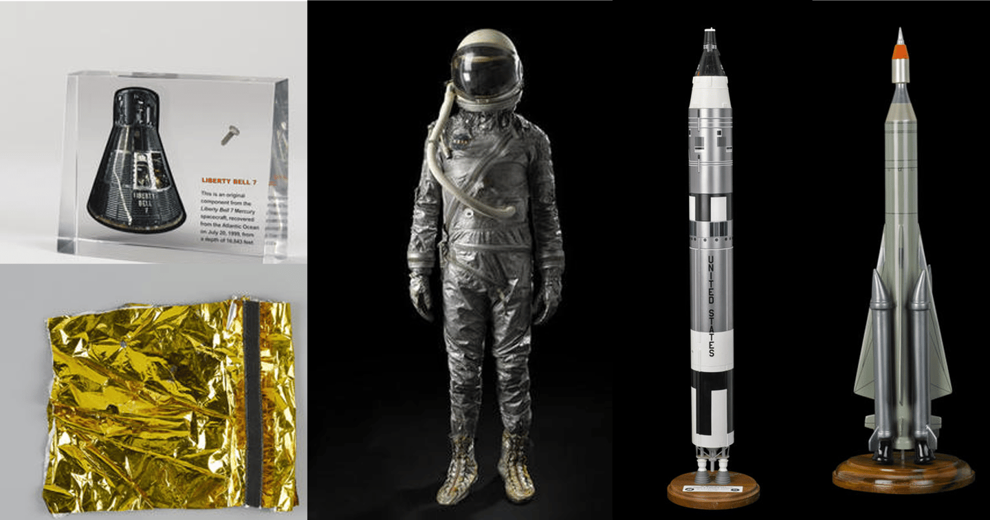 The sale includes memorabilia from the US and Soviet space programs
