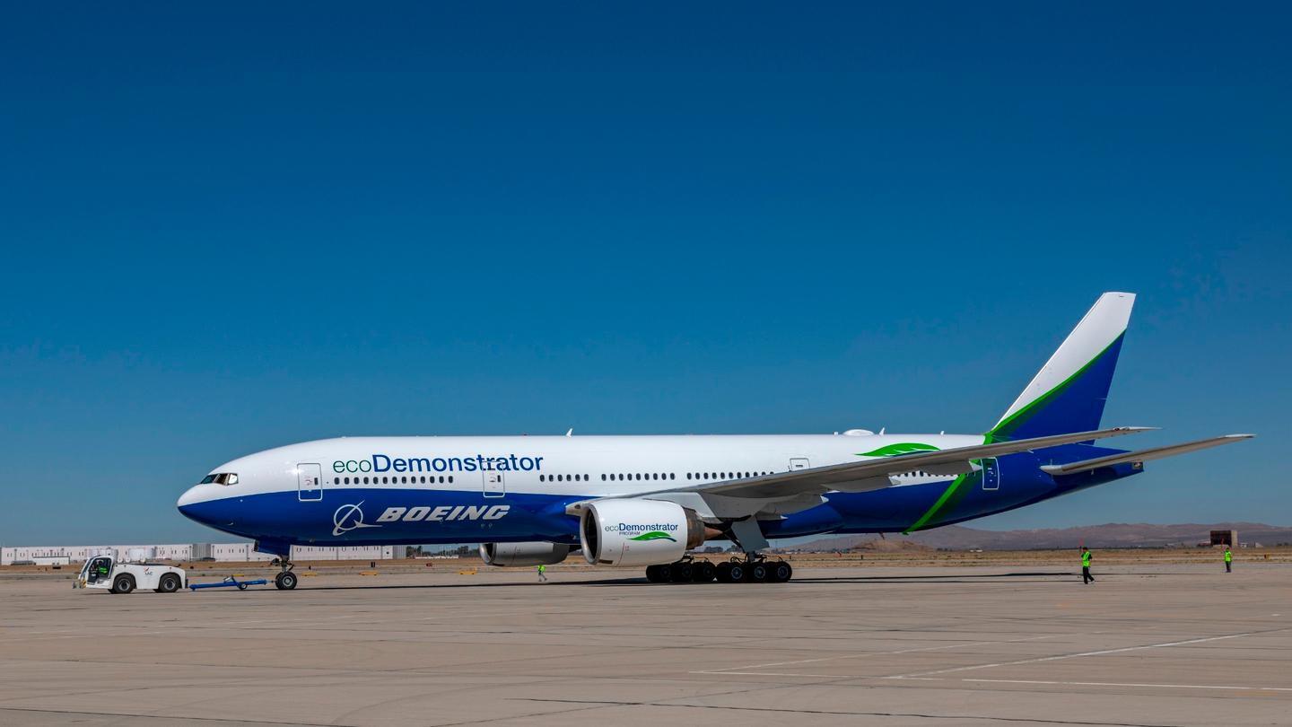 The sixth iteration of Boeing's ecoDemonstrator is a modified 777 Freighter