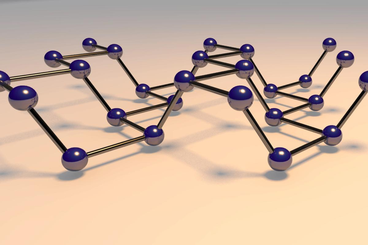 Crystal structure of black phosphorus - could this be the new silicon?