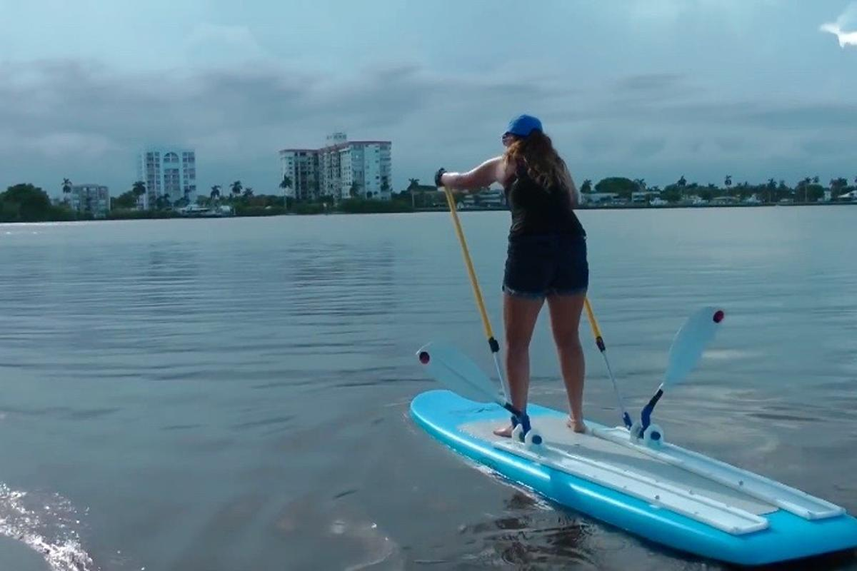 The Supski combines stand-up paddleboarding and cross-country skiing