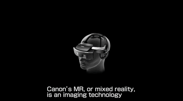 The Canon MR head-mounted display contains two cameras
