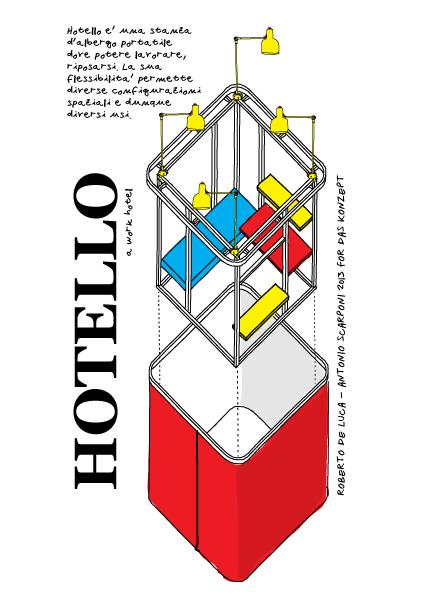 Hotello perspective plan view