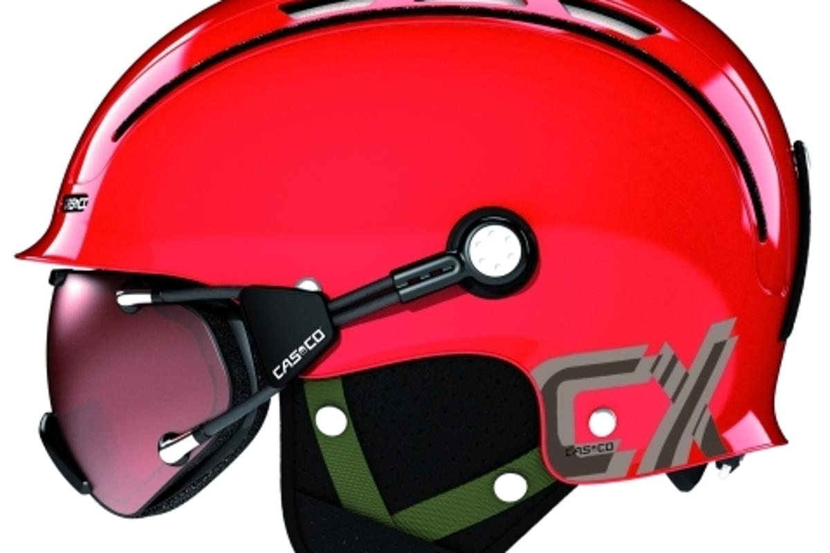 Casco CX helmet with goggles