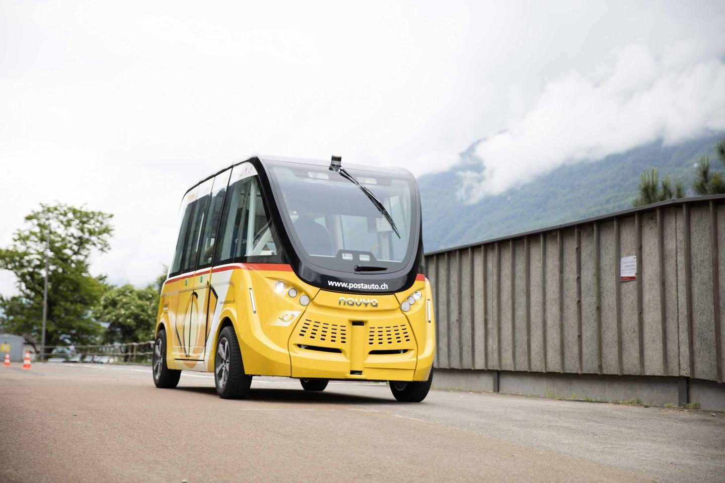 Twoautonomousbuses will follow a route along the edge of the city of 33,000 residents and pass through pedestrian areas