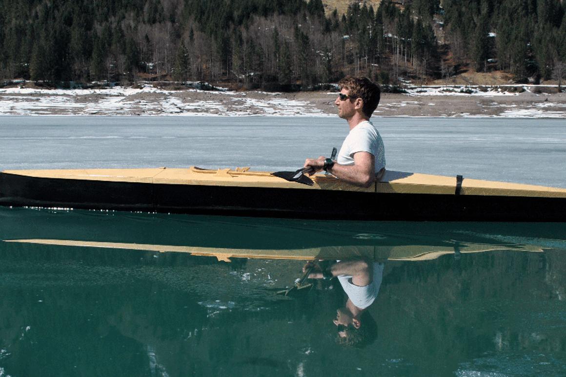 Modular Boner Kayak breaks down for easy transport
