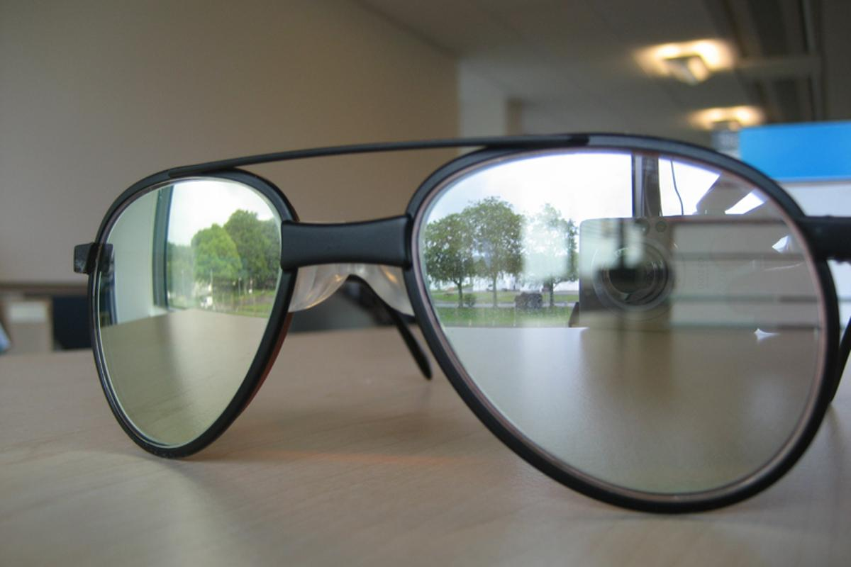 Prototype laser eye-protection spectacles (Image: Crown Copyright/MoD)