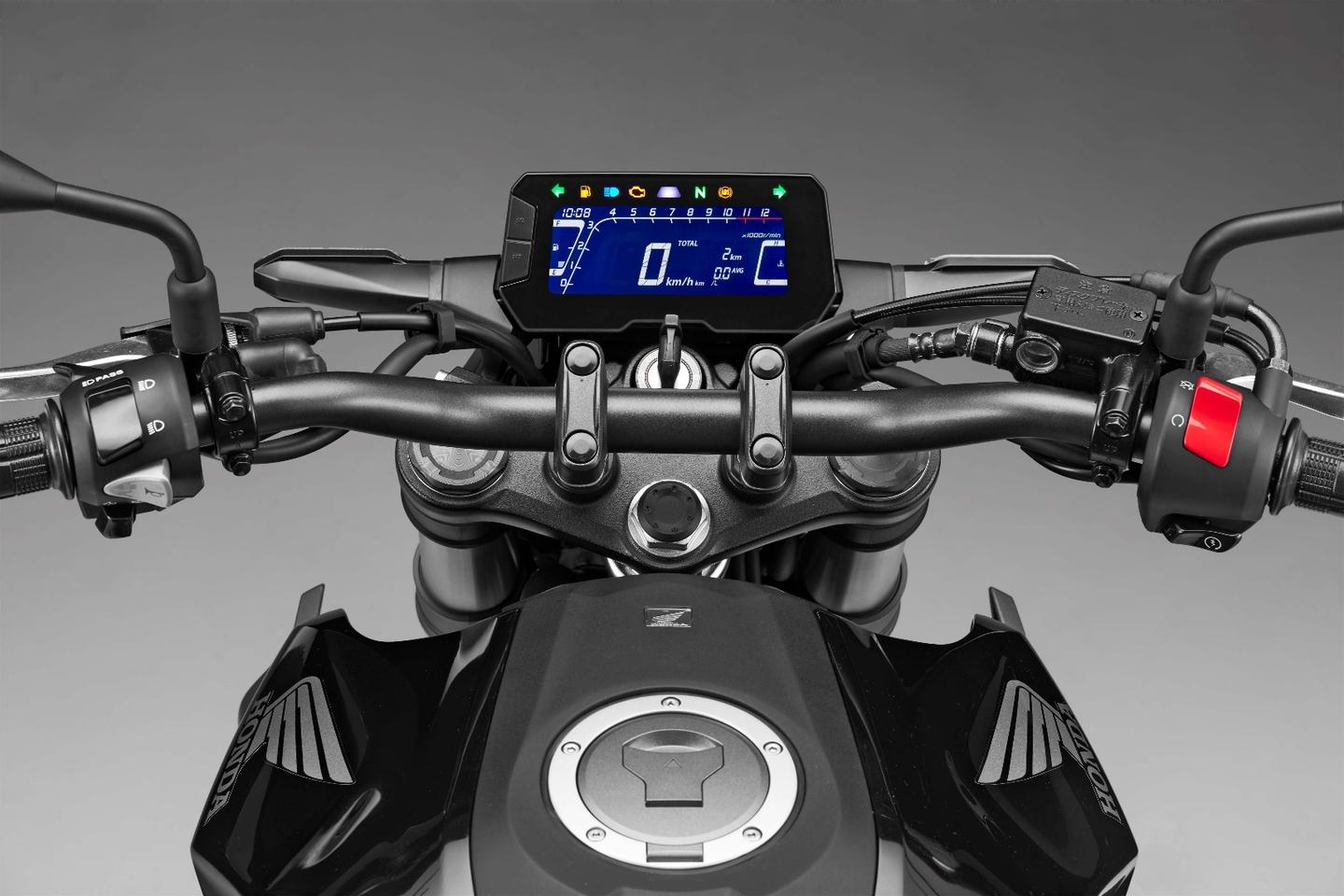 Honda CB300R: LCD dash looks terrific
