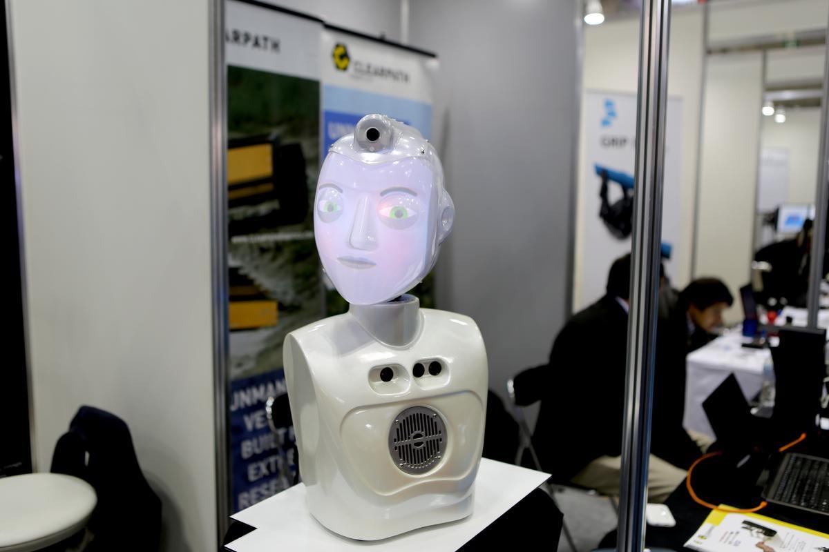 SociBot-Mini, on display in Tokyo