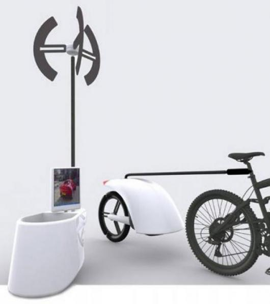 Wind Generator and trailer set-up