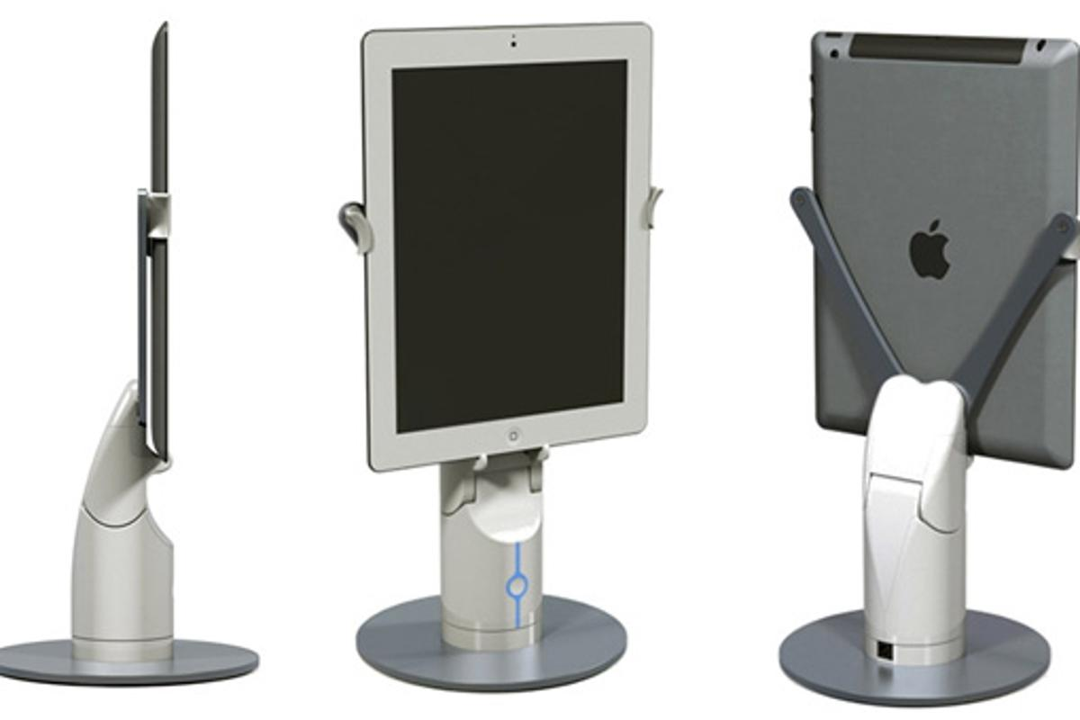 Revolve Robotics has developed an interactive tablet stand allowing you to pan and tilt during video calls