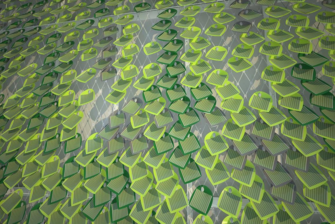 Solar Ivy captures the sun's energy whilst creating a pleasing visual aesthetic(Image by Solar Ivy/SMIT)
