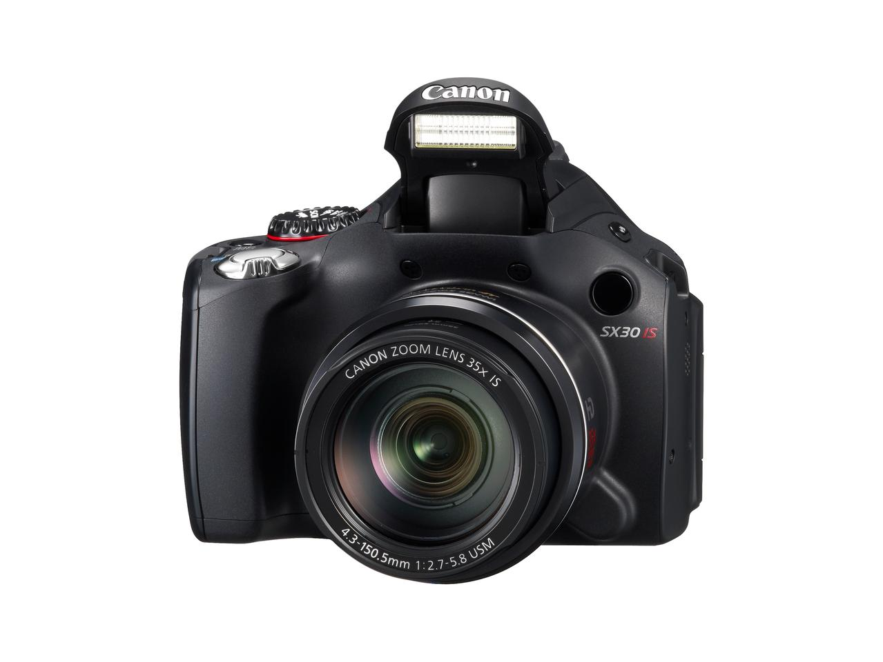The PowerShot SX30 IS features a 35x-Wide Angle Optical Zoom lens with Optical Image Stabilization