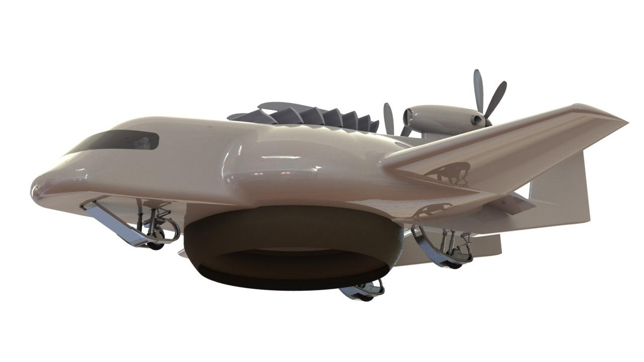 The ESTOLAS combines features of a plane, helicopter, hovercraft and airship in one aircraft