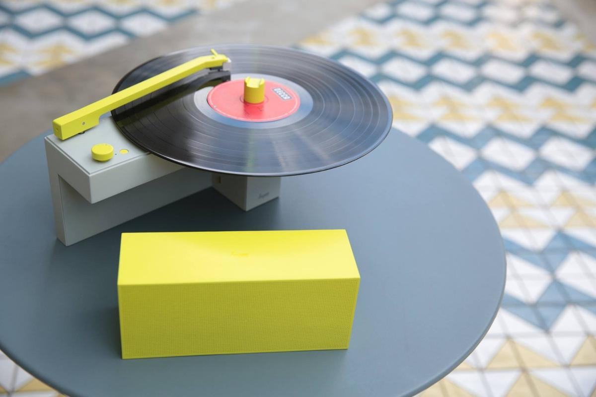 The Duo turntable/Bluetooth speaker all-in-one music system