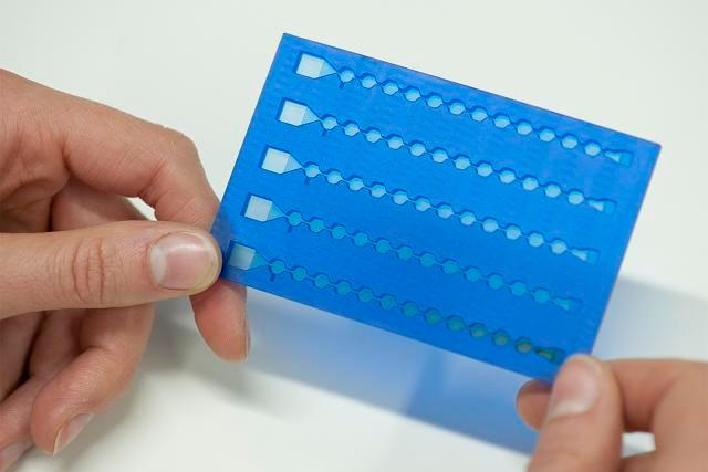 A pathology platform is about as big as a credit card, uses magnetic nanoparticles and takes about an hour from needle to diagnosis