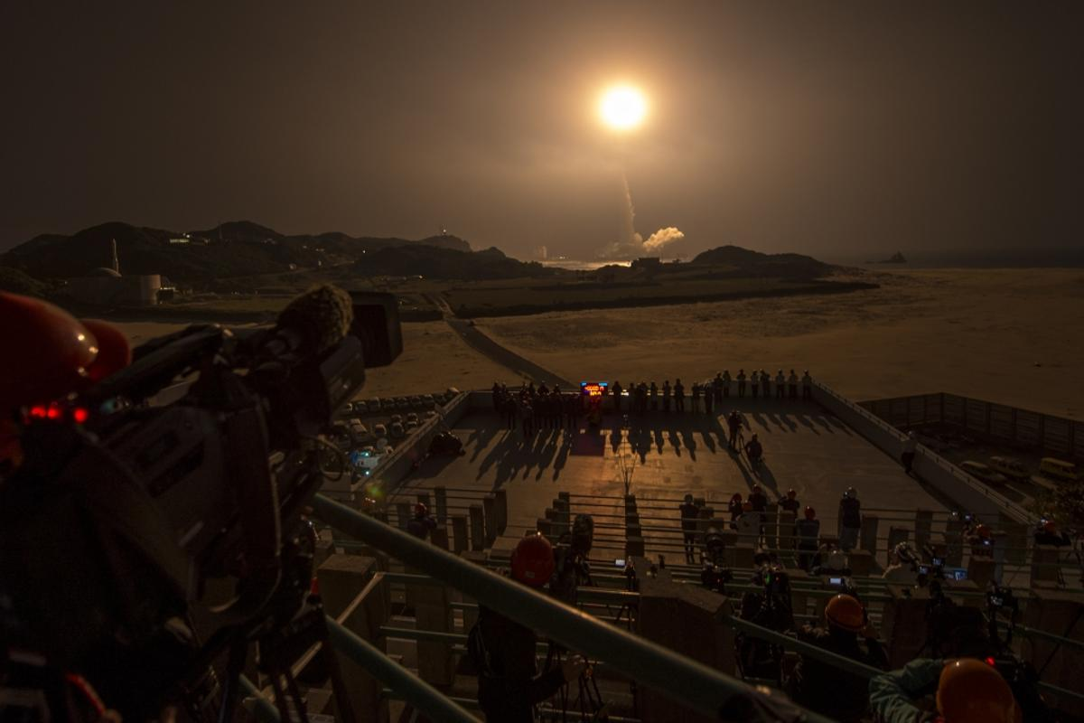 The GPM Core Observatory is launched aboard a Japanese H-IIA rocket from the Tanegashima Space Center last week (Photo: NASA/Bill Ingalls)