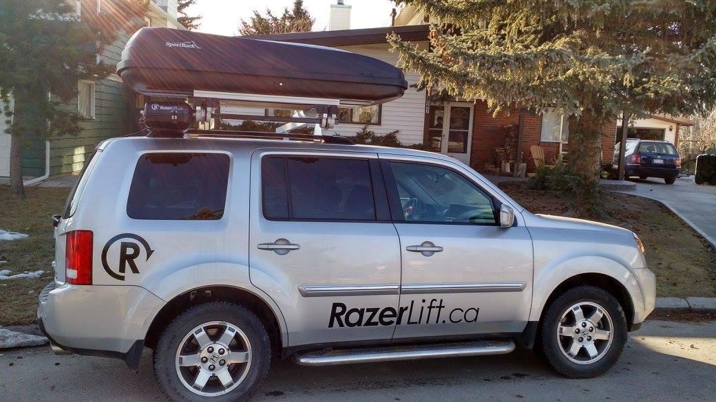 The RazerLift provides an easier means of loading/unloading cargo