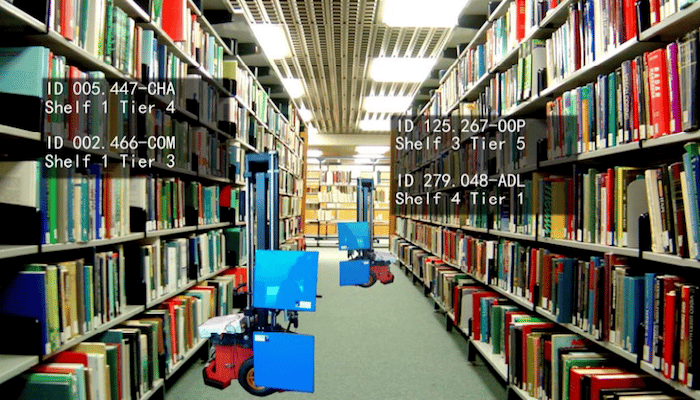 Researchers have designed an autonomous robotic librarian that scansRFID tags and can help locatemisplaced books